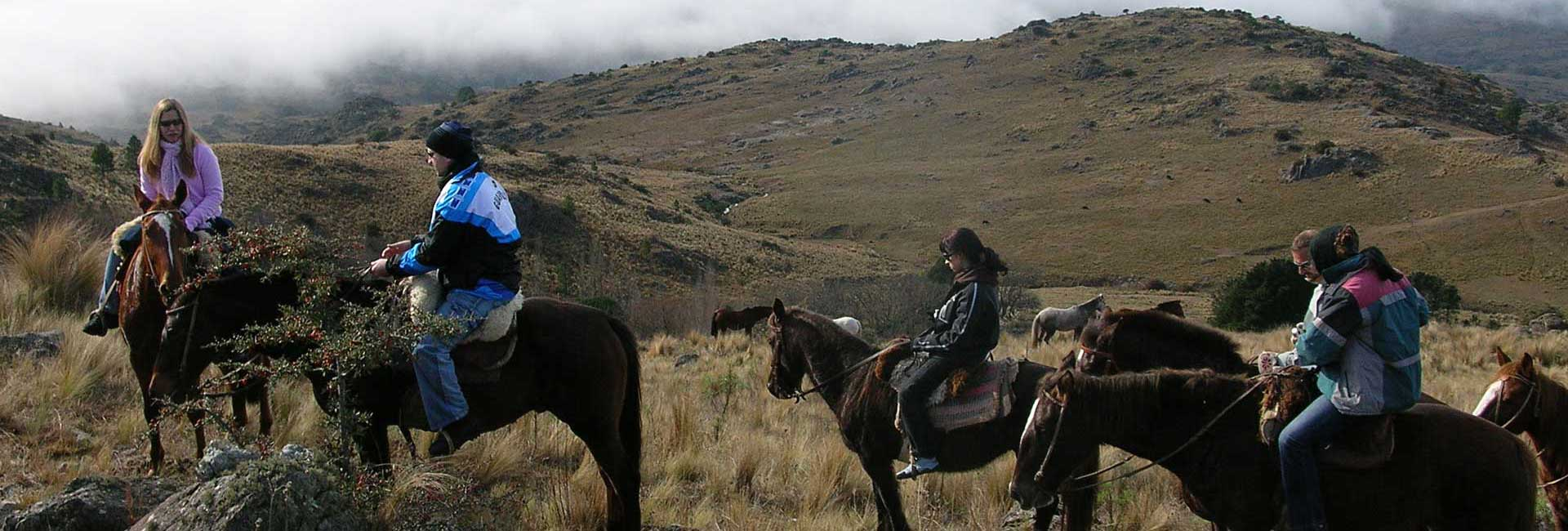 Horse riding action in Argentina