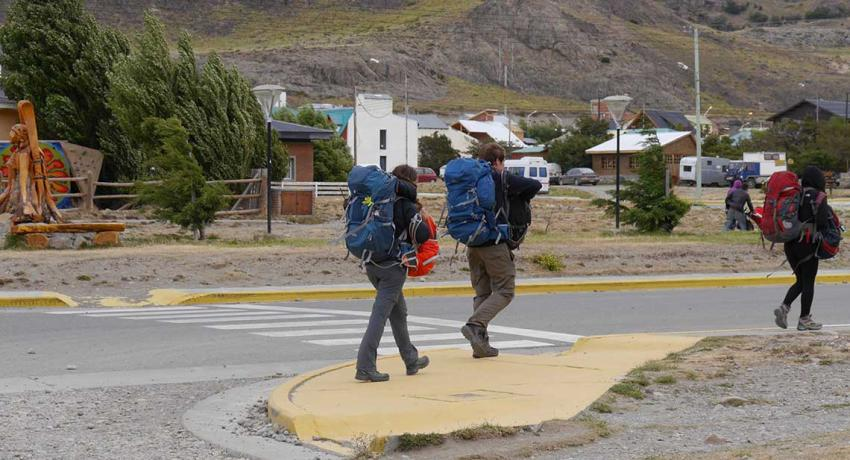 Backpacker in Patagonien
